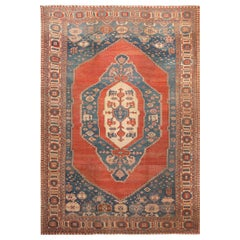 Large Blue Antique Persian Bakshaish Rug. Size: 11 ft 6 in x 16 ft 7 in