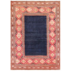 "Large Blue Background Antique Persian Khorassan Carpet. Size: 11' 9"" x 16' 3"""