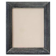 Large Blue/Black Authentic Shagreen Covered Picture Frame