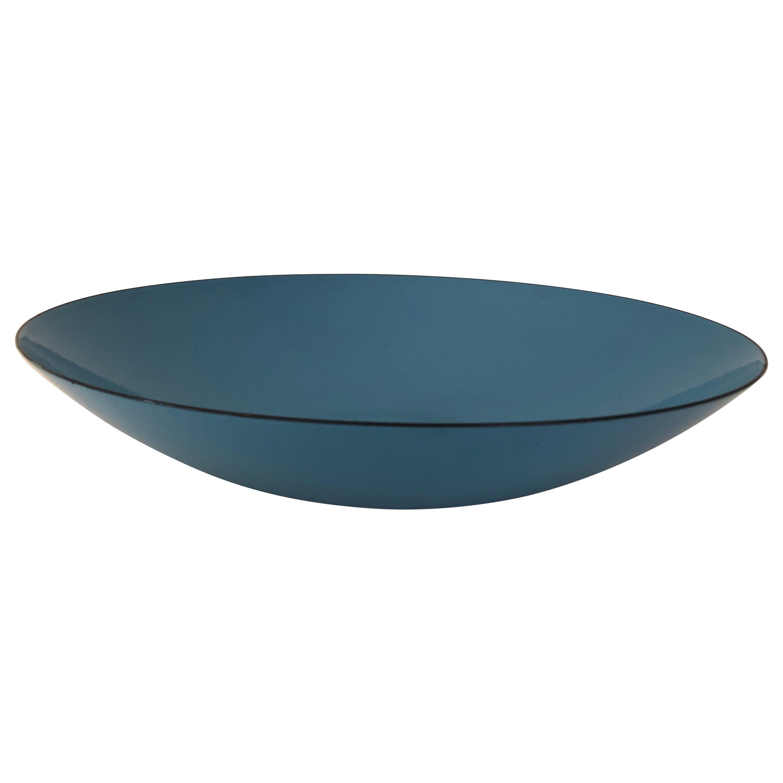Large Blue Enamel Krenit Bowl by Herbert Krenchel