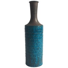 Large Blue Niels Kahler Vase Denmark
