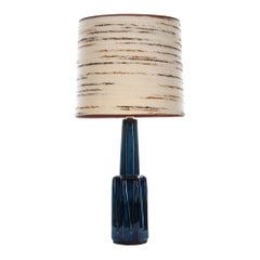 Large Blue Table Lamp by Soholm in the 1960s, No. 1033 with Shade Included