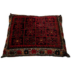 Large Blue Vintage Persian Tribal Pillow