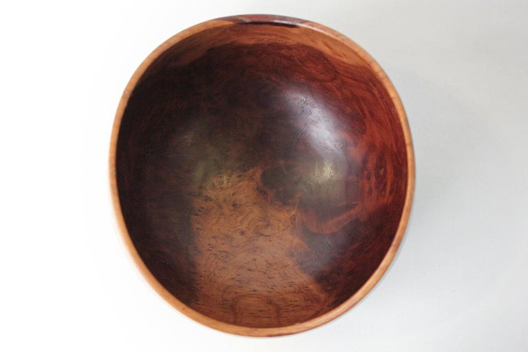 Large Bob Stocksdale Redwood Burl Freeform California Design Turned Art Bowl For Sale 2