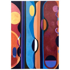 Large Bold Abstract Original on Canvas