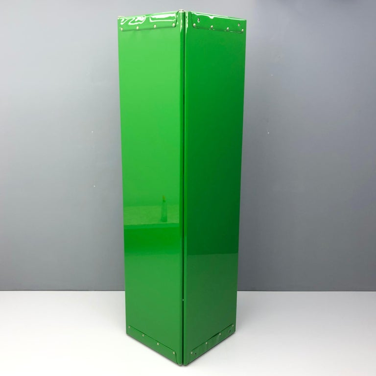 Late 20th Century Large Book Case by Otto Zapf Green Foil InDesign, Germany, 1971 For Sale