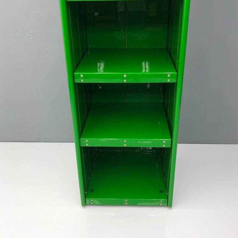 Large Book Case by Otto Zapf Green Foil InDesign, Germany, 1971 For Sale 2