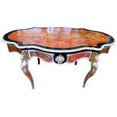 Large Boulle Table 19th Century Napoleon III