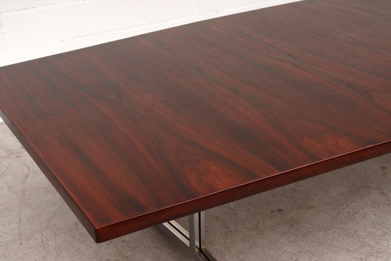 Large Bowed Rosewood Toned AP Originals Conference or Dining Table For Sale 3