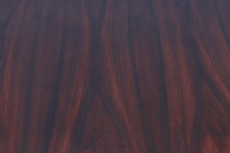 Large Bowed Rosewood Toned AP Originals Conference or Dining Table For Sale 6