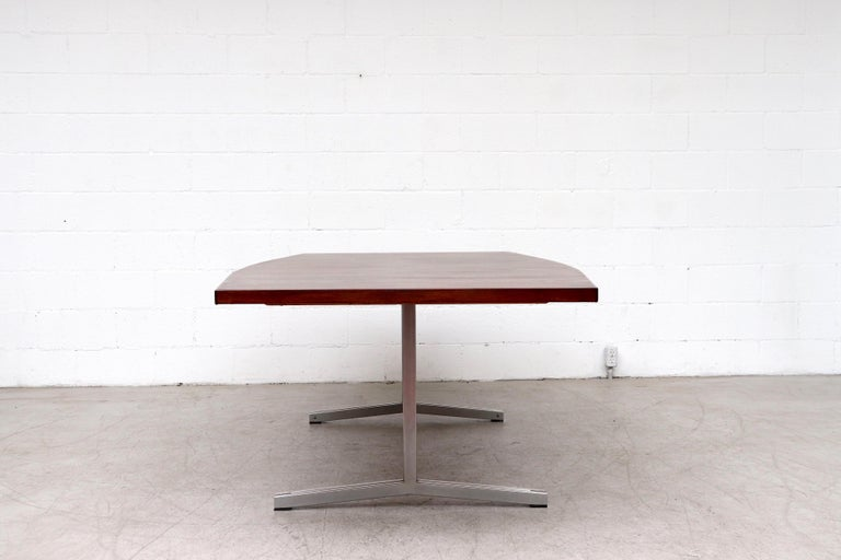 Late 20th Century Large Bowed Rosewood Toned AP Originals Conference or Dining Table For Sale