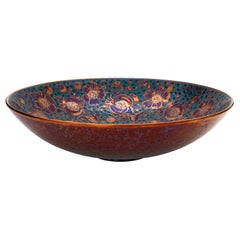 Large Bowl by Bottega Vignoli Hand Painted Glazed Faience Contemporary