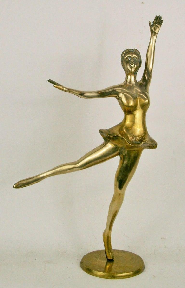 Large Brass Ballerina Sculpture For Sale 2