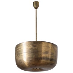 Large Brass Bowl Chandelier, circa 1930