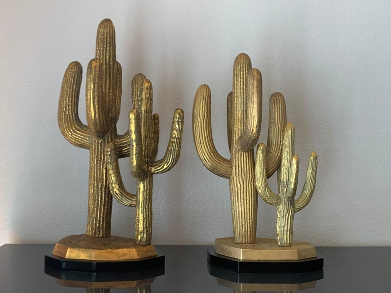Large Brass Cactus Sculpture For Sale 6