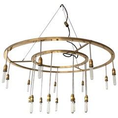 Large Brass Chandelier Model Vaghe Stelle