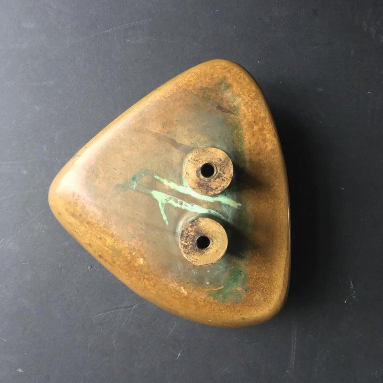 Large Brass Door Handle with Salamander Motif For Sale 4