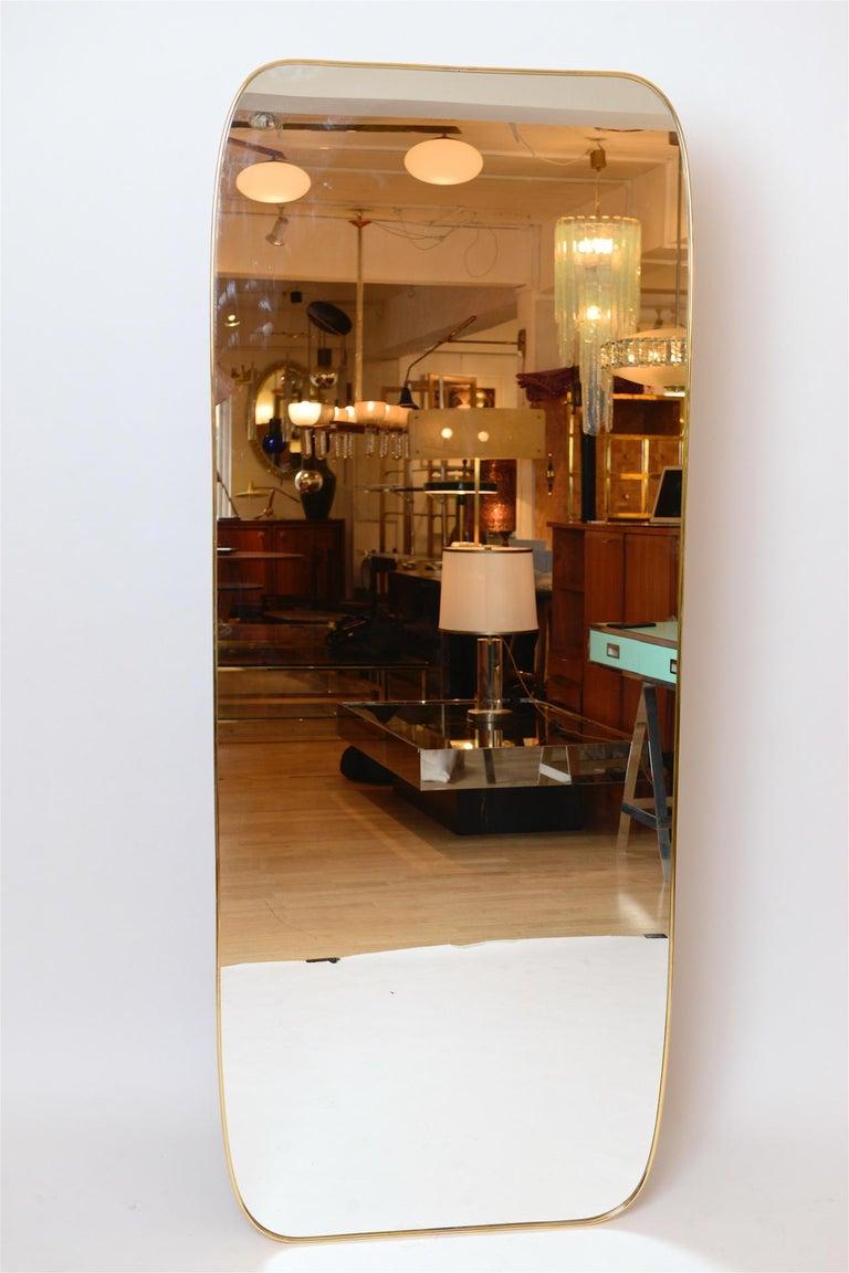 Brass framed Italian mirror  Pairs available.