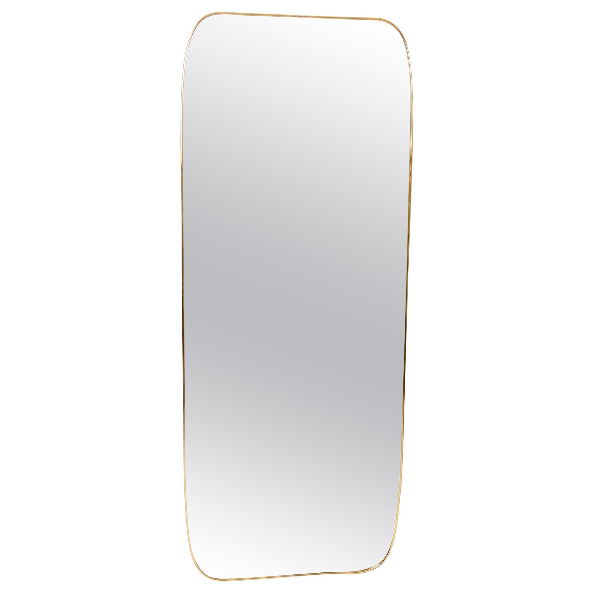 Large Brass Frame Mirror