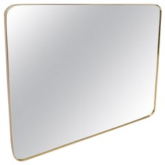 Large Brass Framed Mirror
