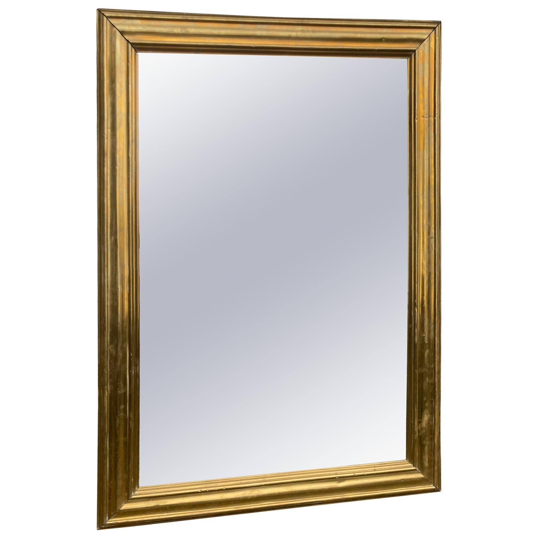 Large Brass Framed Mirror