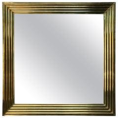 Large Brass Mirror