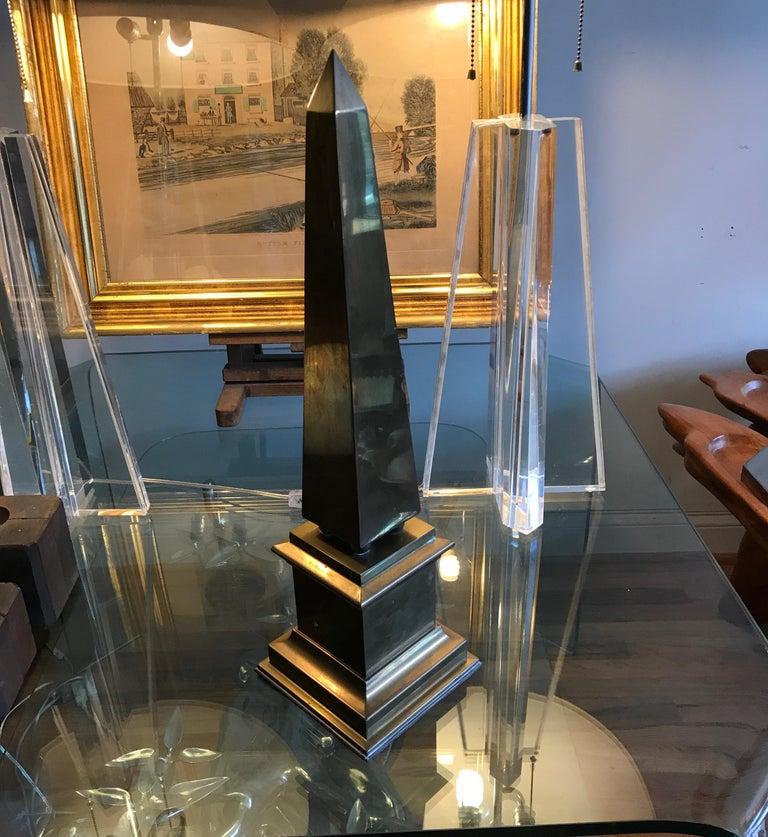 Large Brass Obelisk For Sale 7