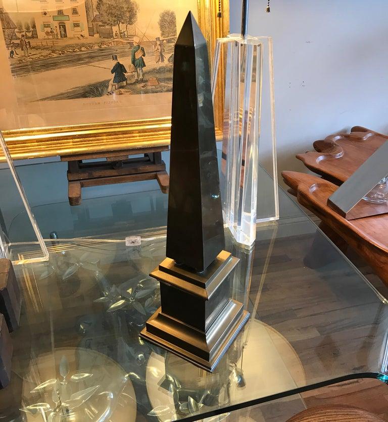 Large Brass Obelisk For Sale 8