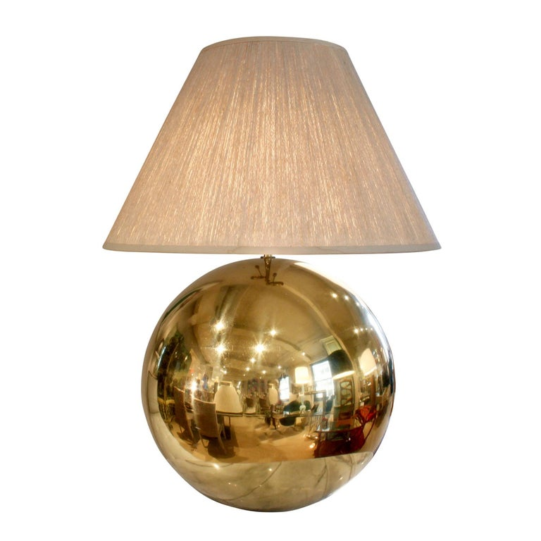 Large Brass Orb Table Lamp By Karl Springer For Sale At 1stdibs