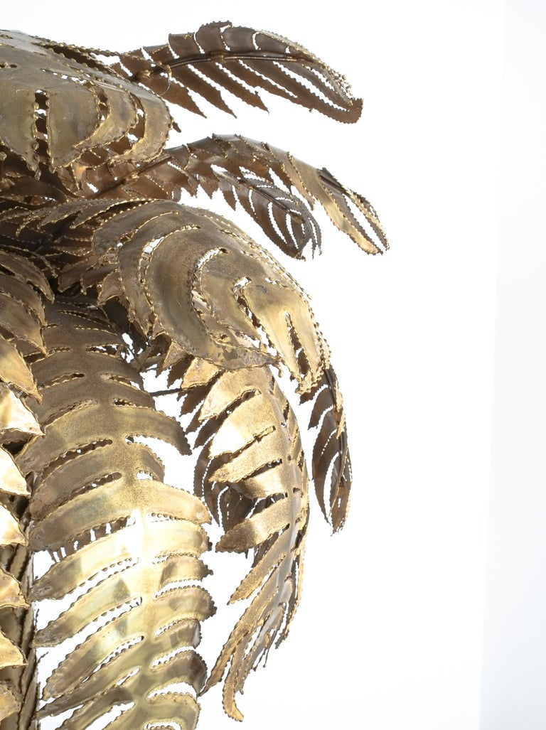 Large Brass Palm Tree Floor Lamp by Maison Jansen, France, circa 1970 For Sale 3