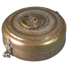 Large Brass Pandan Box, North India, 19th Century