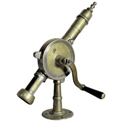 Large Brass Rotary Eclipse Styled Commercial Grade Bar Mounted Corkscrew