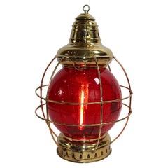 Large Brass Ships Onion Lantern