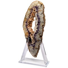 Large Brazilian Amethyst/ Agate Mounted on Acrylic Base