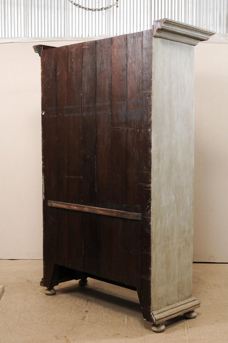 Large Brazilian Painted Wood Storage Cabinet from the Mid-20th Century For Sale 7