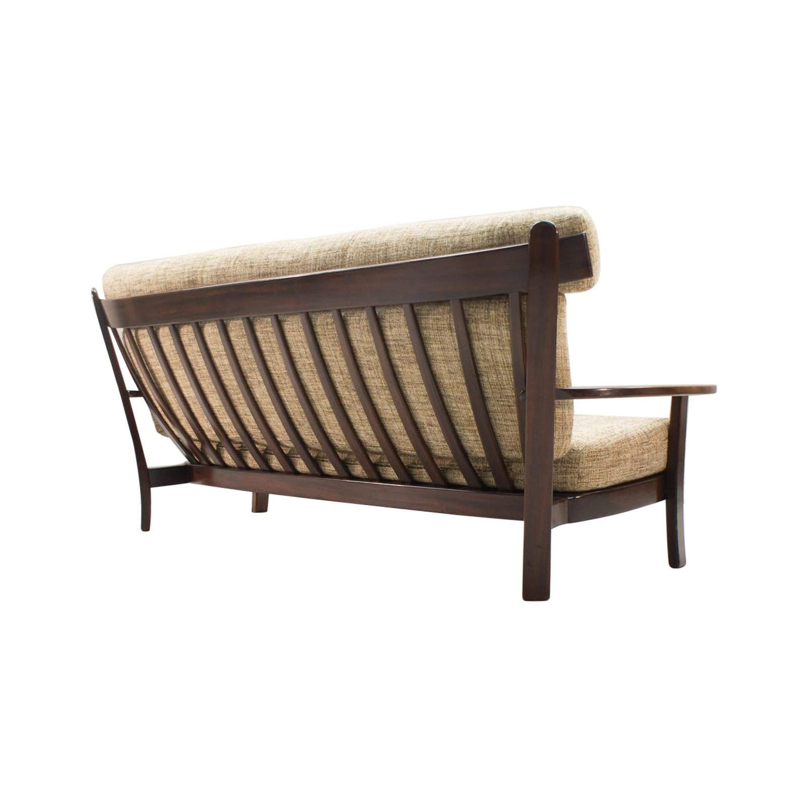 Large Brazilian Sofa in the Manner of Sergio Rodrigues, 1960s