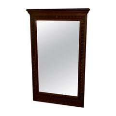 Large Breton Carved Chestnut Wall Mirror