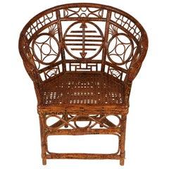 Large Brighton Pavillion Chinese Rattan Chair