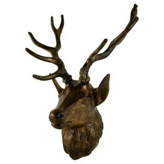 Large Bronze 10 Point Stage Wall Sculpture