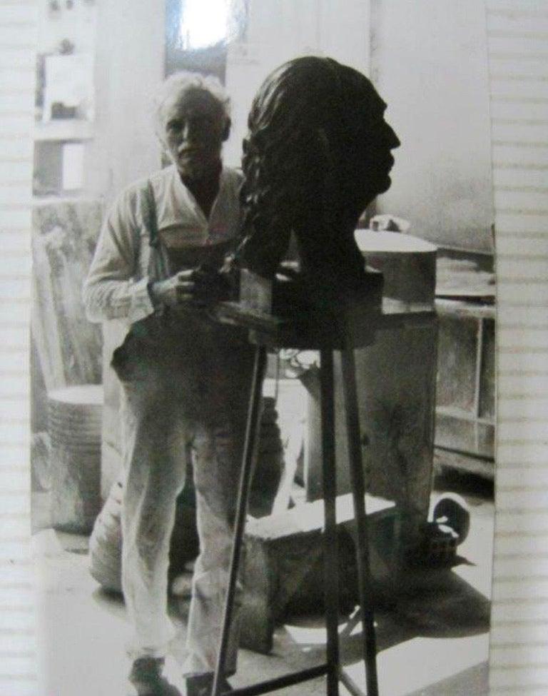 Large Bronze Bust of Salvador Dali For Sale 4