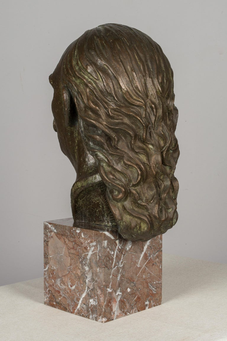 Large Bronze Bust of Salvador Dali In Good Condition For Sale In Winter Park, FL