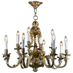 Large Bronze Chandelier in the Rococo Manner