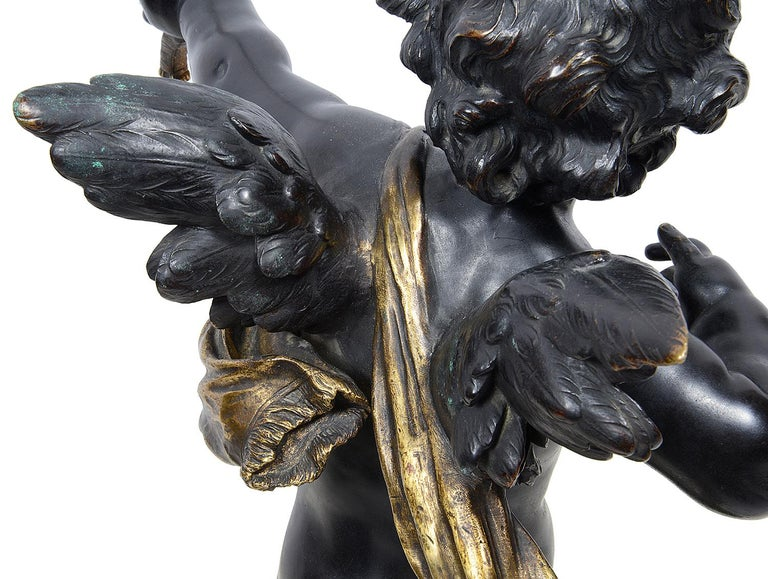 Large Bronze Cupid by Aug. Moreau, 19th Century For Sale 5