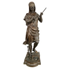 Large Orientalist Bronze Figure of a Turkish Arms Merchant by Gueyton