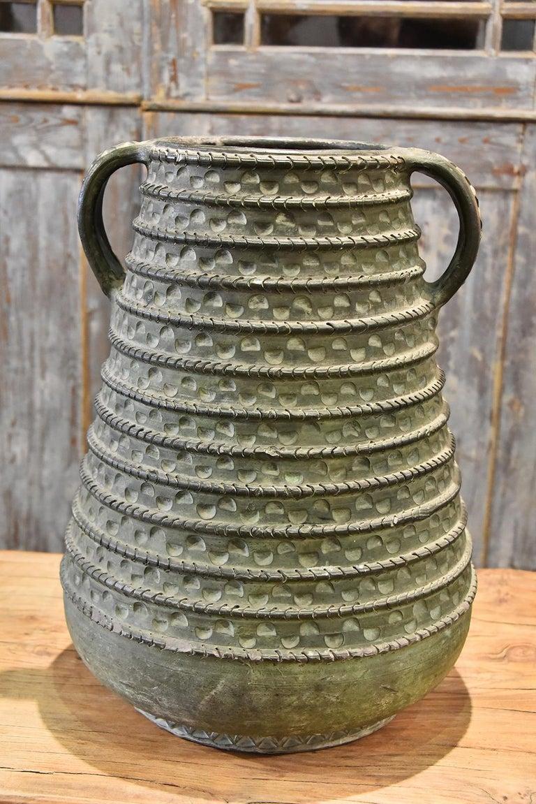 1950s large bronze French vase.
