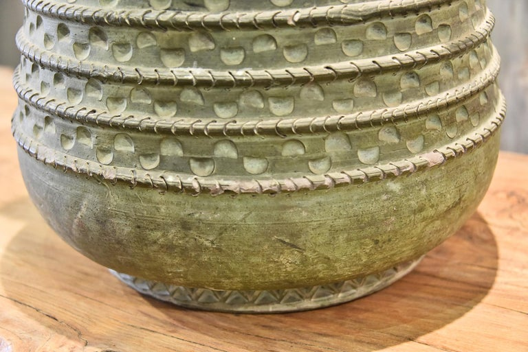 Mid-20th Century Large Bronze French Vase For Sale