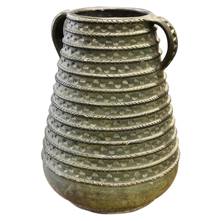 Large Bronze French Vase For Sale