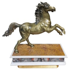 Large Bronze Horse from the 18th Century Very Decorative