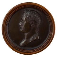 Large Bronze Medal Portrait of Napoleon, Early 19th Century