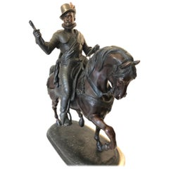 Large Bronze of a Gentleman on a Horse, Early 20th Century